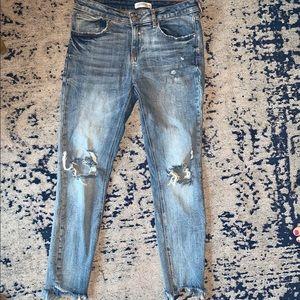 Zara Premium Distressed Denim Jeans